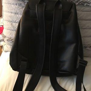 Kendall + Kylie Black Vinyl Backpack